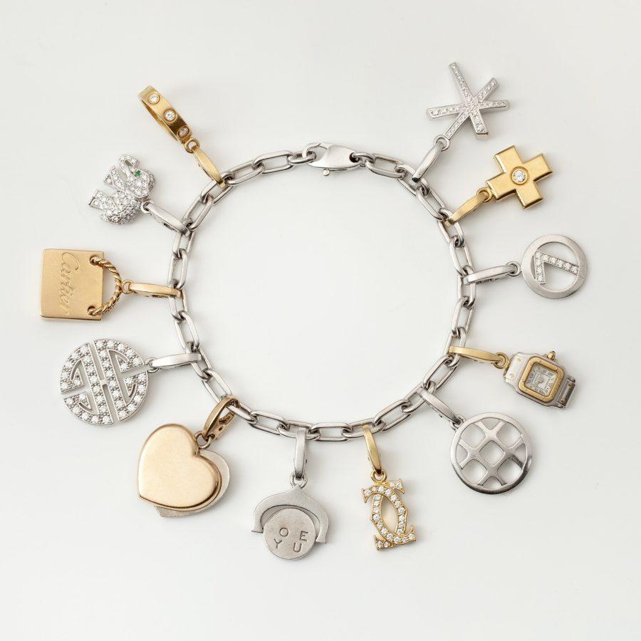 Cartier bedelarmband met twaalf hangers