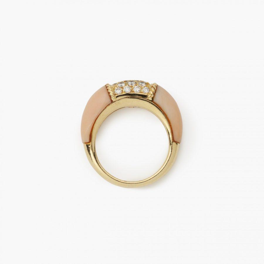 Van Cleef & Arpels Parijs Philippine ring diamant koraal 1968