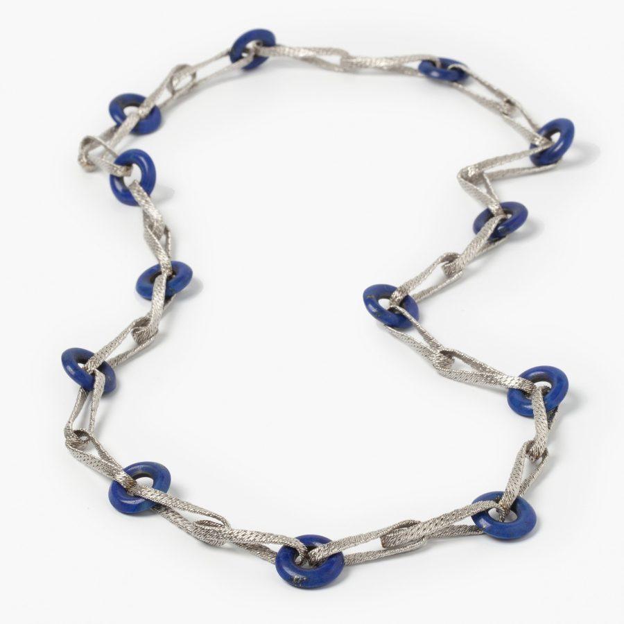 witgouden collier lapis lazuli toegeschreven aan Georges Lenfant, Parijs, omstreeks 1970